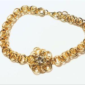 Jewelry - Gold Vortex Medallion Chainmaille Bracelet